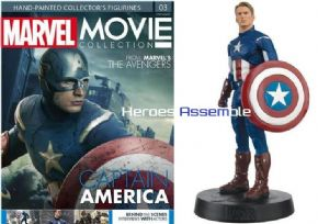 Marvel Movie Collection #003 Captain America Figurine Eaglemoss Publications